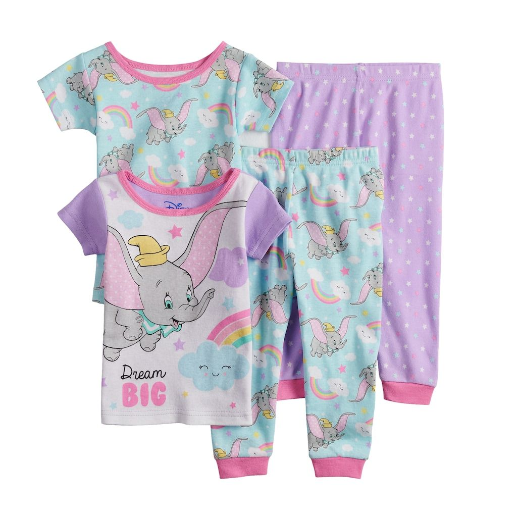 Lady /& The Tramp Cotton Tight fit Pajamas Baby Girls 2pc Set