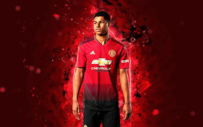 Download Wallpapers Marcus Rashford 4k Season 2018 2019