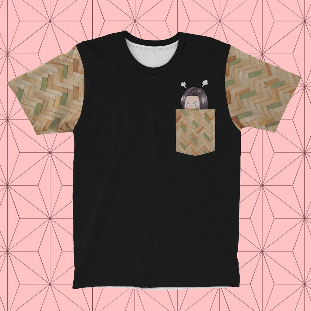 Demon Slayer Shirt Nezuko Pocket Tee Chibi Nezuko Angry Etsy Anime Shirt Pretty Sweatshirts Slayer Shirt