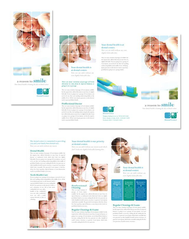 Dentistry & Dental Office Tri Fold Brochure Template Http://Www