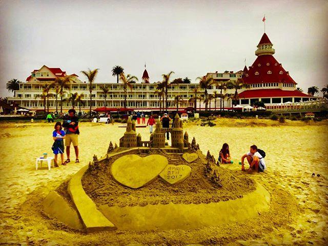 Sand Castle at Hotel Del Coronado.  #sandcastle #hoteldelcoronado #coronado #saturdaymorning #sandiegoconnection #sdlocals #coronadolocals - posted by  https://www.instagram.com/dancov. See more post on Coronado at http://coronadolocals.com