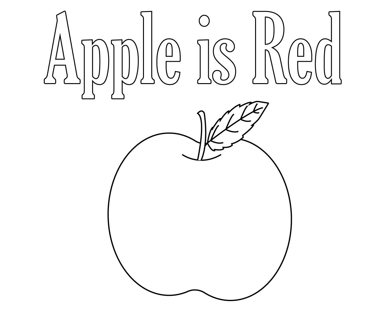 Red Apple Coloring Pages