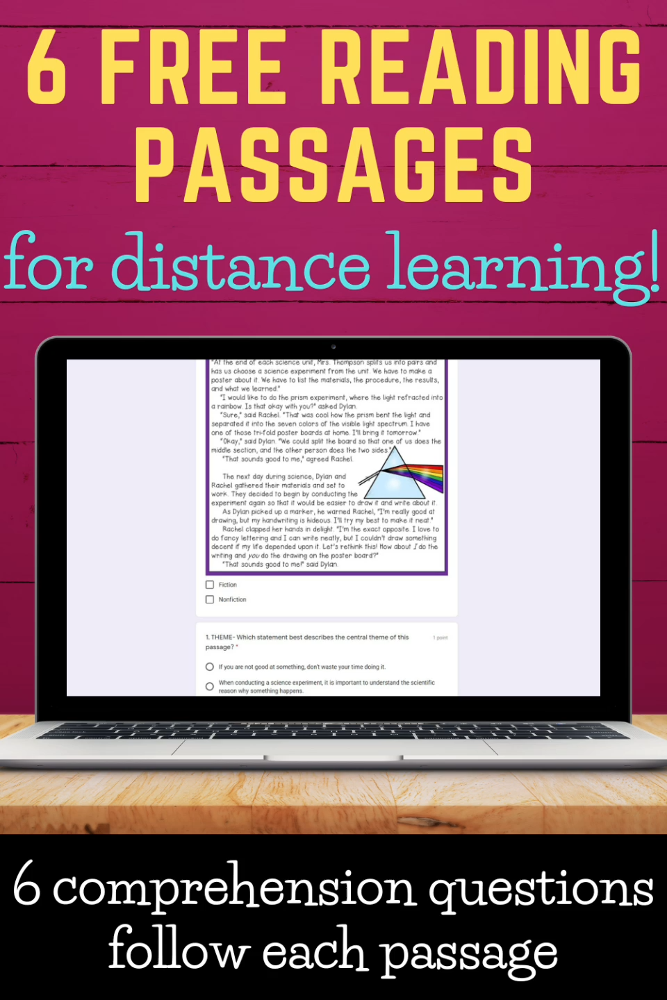 Free Reading Passages With Google Forms Video Free Reading Passages Reading Passages Reading Comprehension Passages Free [ 1440 x 960 Pixel ]