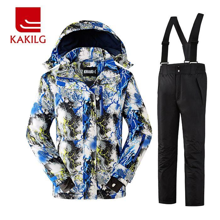 a9188b3f4 2016 KAKILG Boys Waterproof Ski Suit Windproof Ski Jacket Ski Pants ...