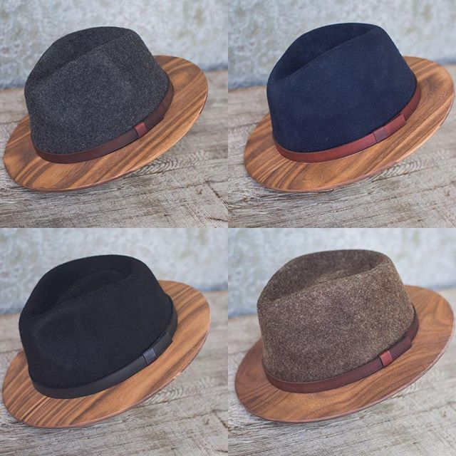 1f4f4060dbb NEW Product  Wood-Brimmed Fedoras - Two Guys Bow Ties