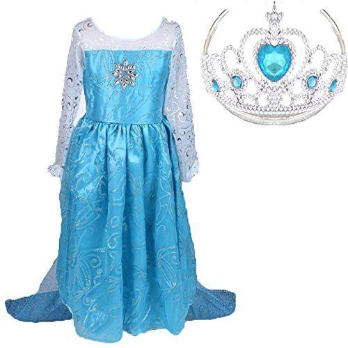Snow Queen Party Costume Dress with a Tiara (4-5) Romydeals http://www.amazon.com/dp/B00O6KUBLS/ref=cm_sw_r_pi_dp_.xwyub0PBZKT9