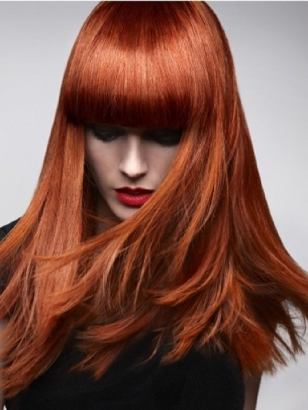 Coloration roux sur cheveux blancs