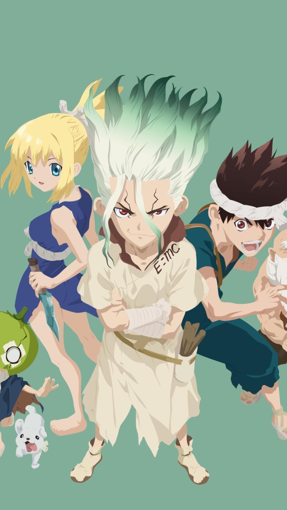 Anime Dr Stone Chrome Dr Stone Kohaku Dr Stone Senku Ishigami 1080x1920 Mobile Wallpaper Anime Anime Wallpaper Stone