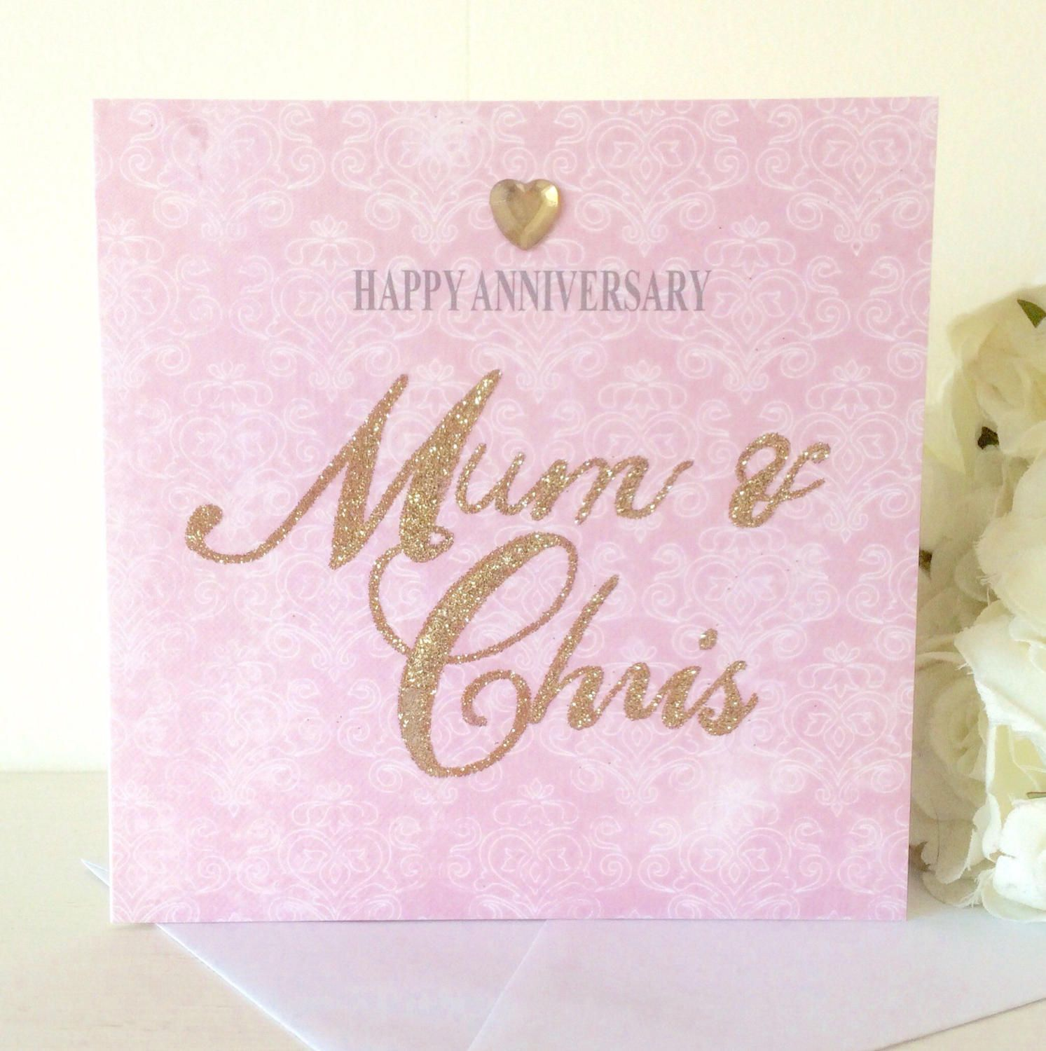 Personalised Calligraphy Glitter Card | Glitter cards