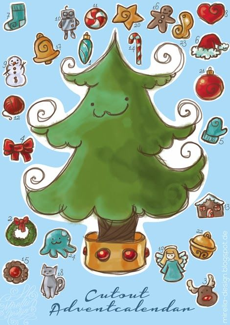 Freebie: Cut out Advent calender   Ausschneide Adventskalender #Download #cut #advent #calender #kalender #adventskalender #advent #diy #lastminute #last #minute #craft