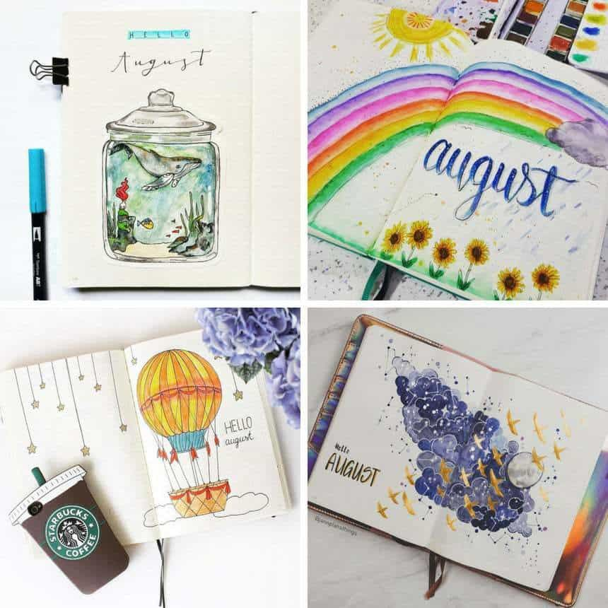 12 Gorgeous August Bullet Journal Themes to Inspire You! #augustbulletjournal