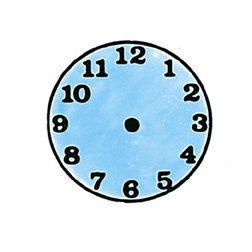BESTSELLER! Small Clock Rubber Stamper: Time Teac... $3.95