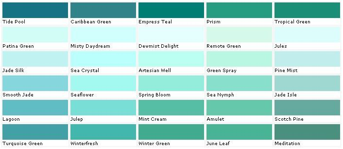 blue green wall paint color name