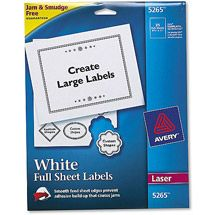 Walmart: Avery Full Sheet Labels, 8-1/2 x 11, White, 25/Pack