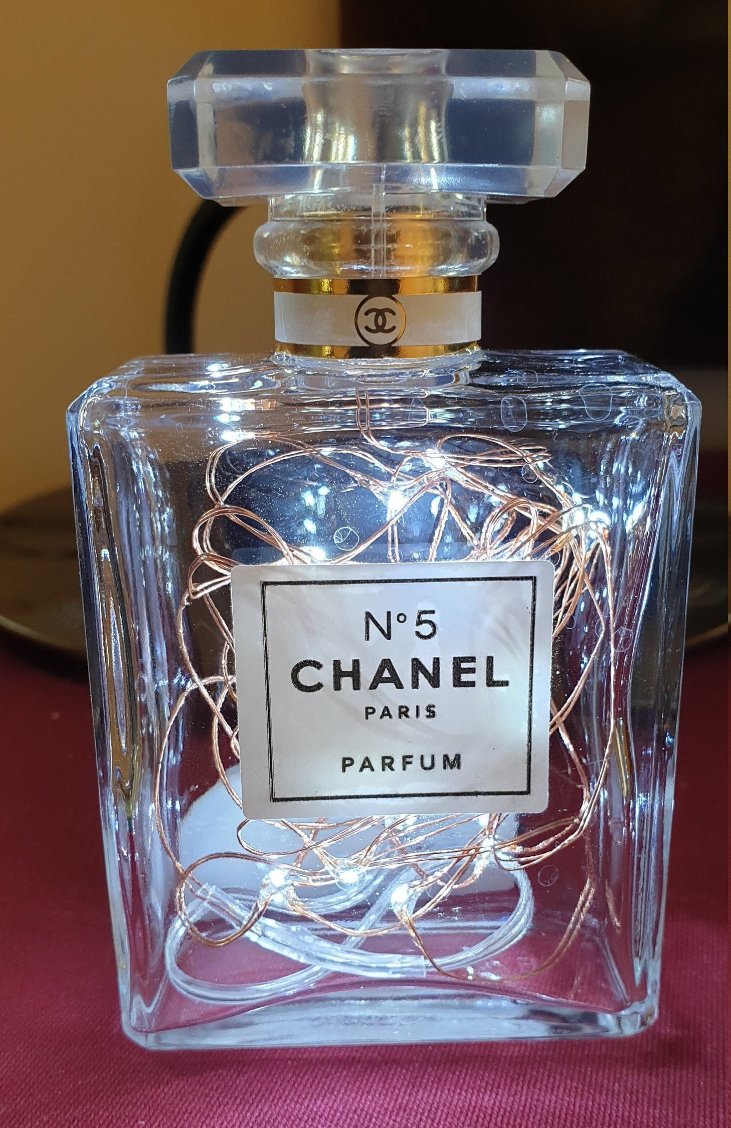 Original Chanel No5 Bottle LED Lamp (With images) Chanel