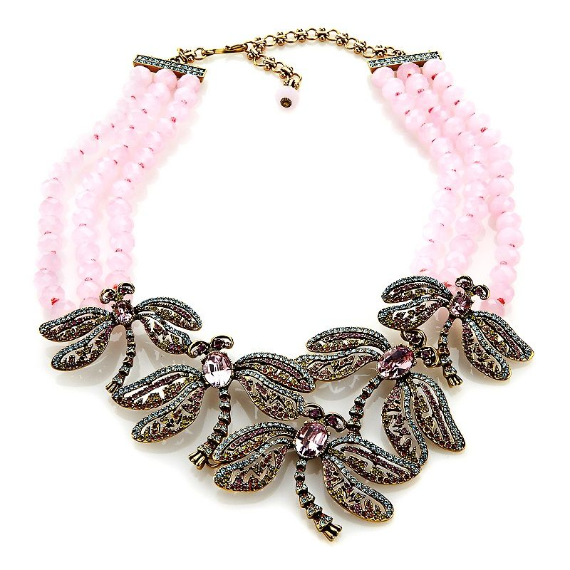 "Heidi Daus ""Dragonfly Artistry"" 3-Row Beaded Necklace"