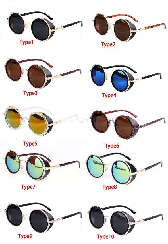 goggles for mens  Steampunk Sunglasses Round Glasses Goggles men Women unisex ...