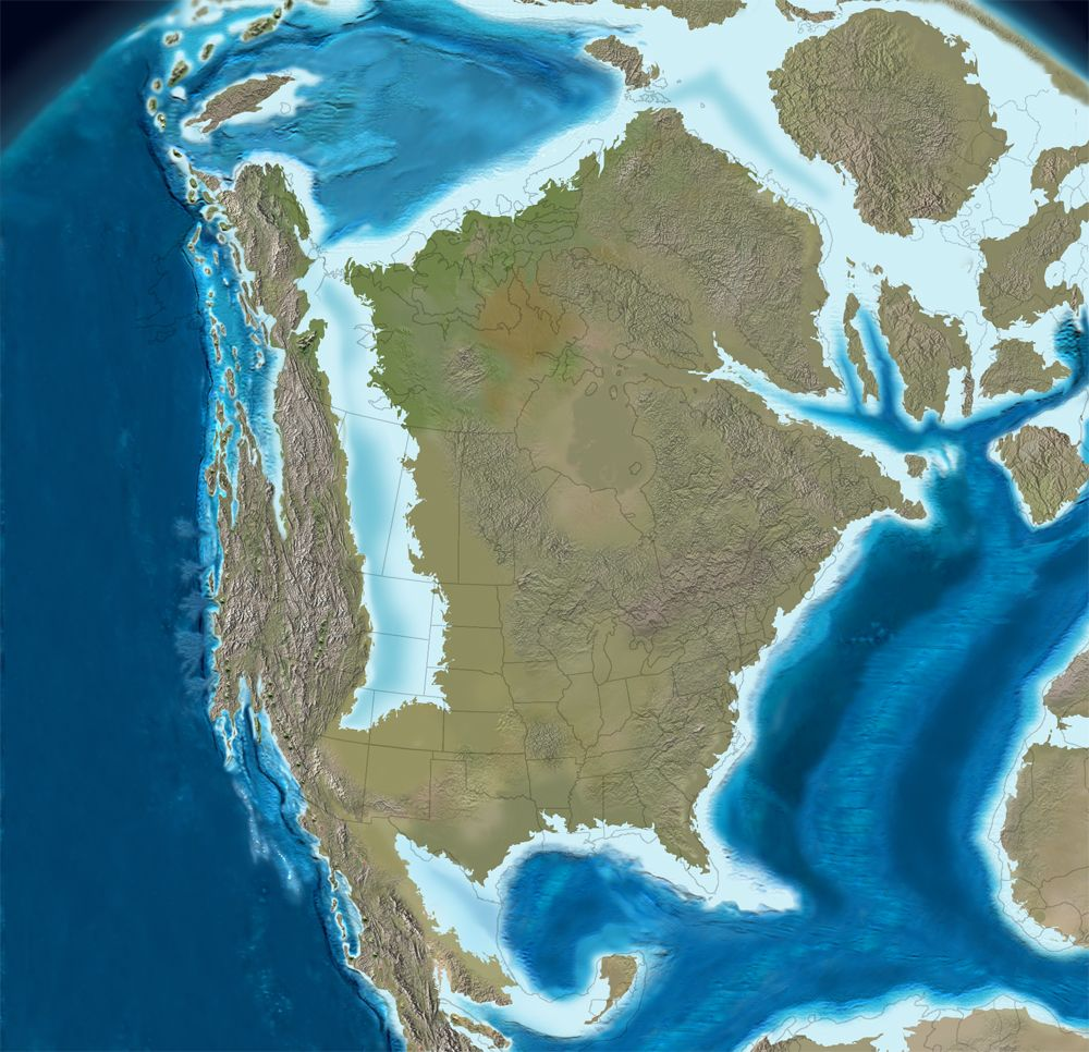 North America in the Late Cretaceous 75