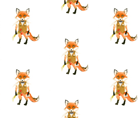 mr fox fabric by taraput on spoonflower illustration drawing doodle pinterest muster. Black Bedroom Furniture Sets. Home Design Ideas