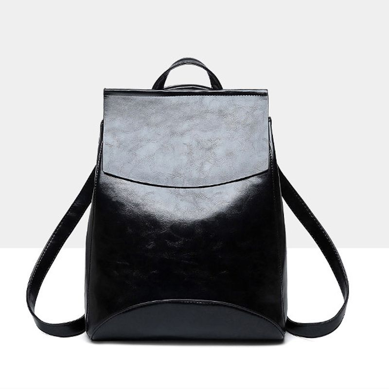 cf3dabde31 Women s Backpack · Faux Leather Flap Top Structured Backpack -SheIn(abaday)  Shoulder Bags For School