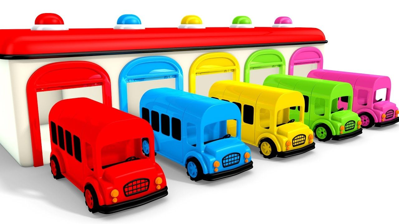 Colors For Children To Learn With Color Bus Toy Colours For Kids To Learn Learning Videos Coloring For Kids Learning Colors Abc Songs