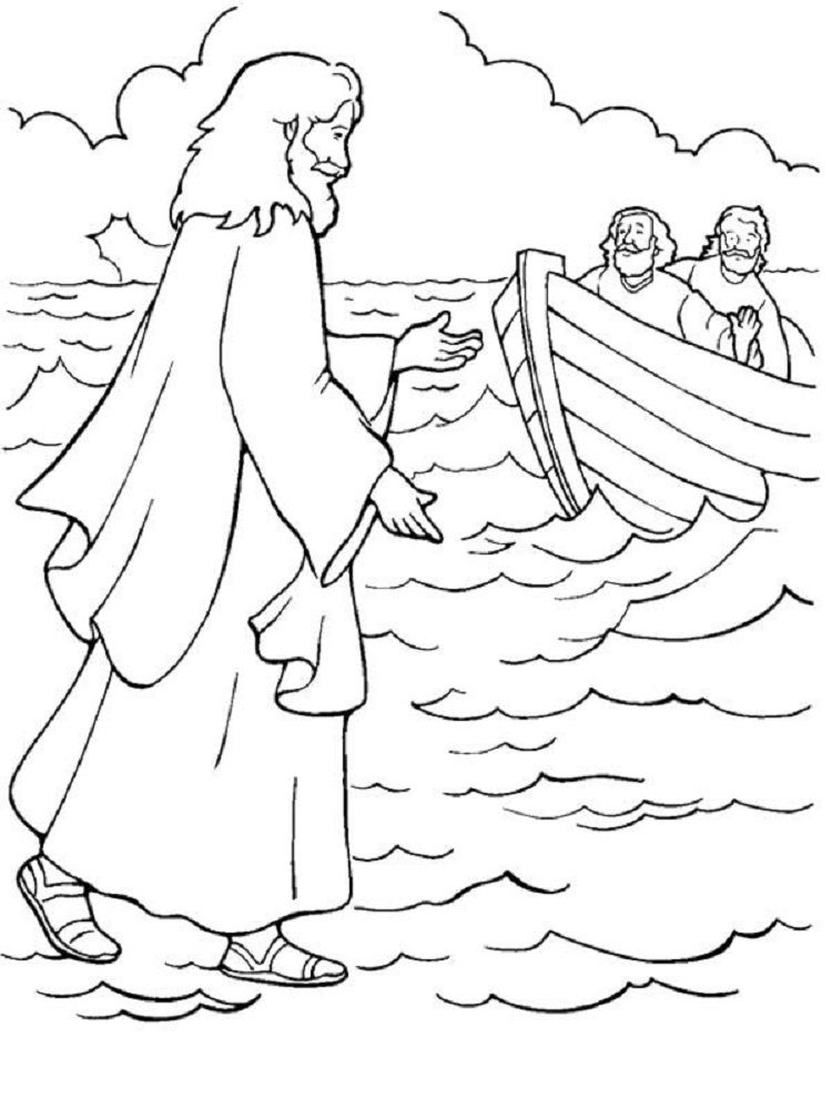 Miracles Of Jesus Coloring Pages Jesus Coloring Pages Jesus