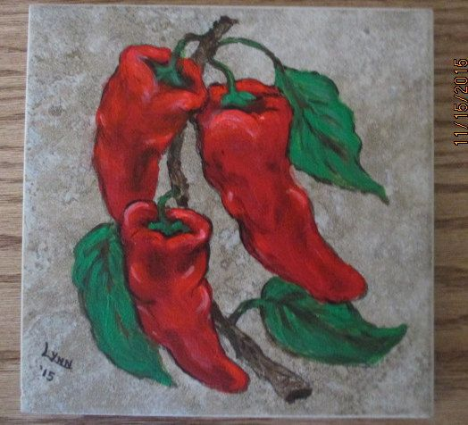 Red peppers by LynnAnnsworld on Etsy
