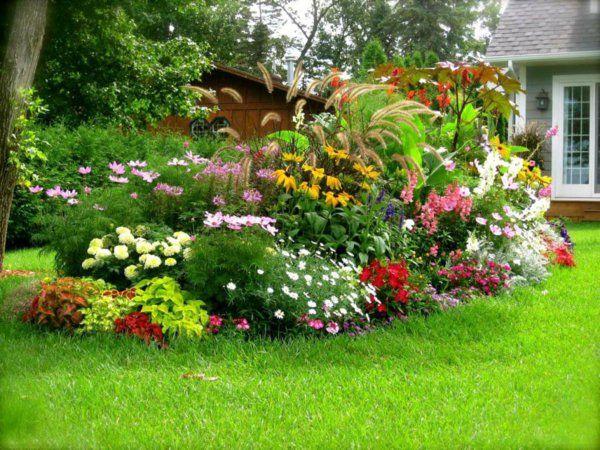 AuBergewohnlich Gartengestaltung Garten Ideen Stauden Pflanzen Blumen Rasen