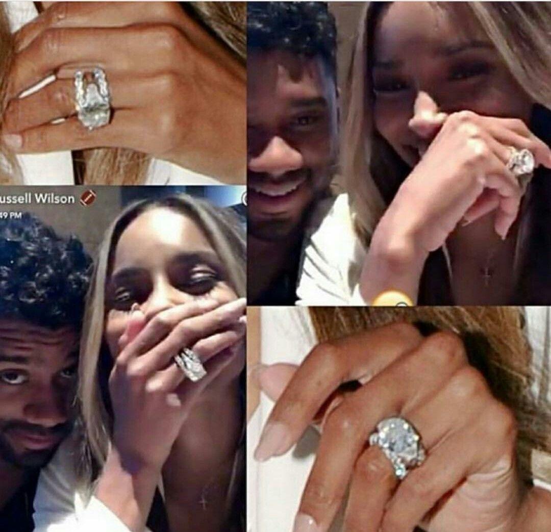 Ciara Russell Wilson Ciara And Russell Ciara And Russell Wilson Ciara Engagement Ring