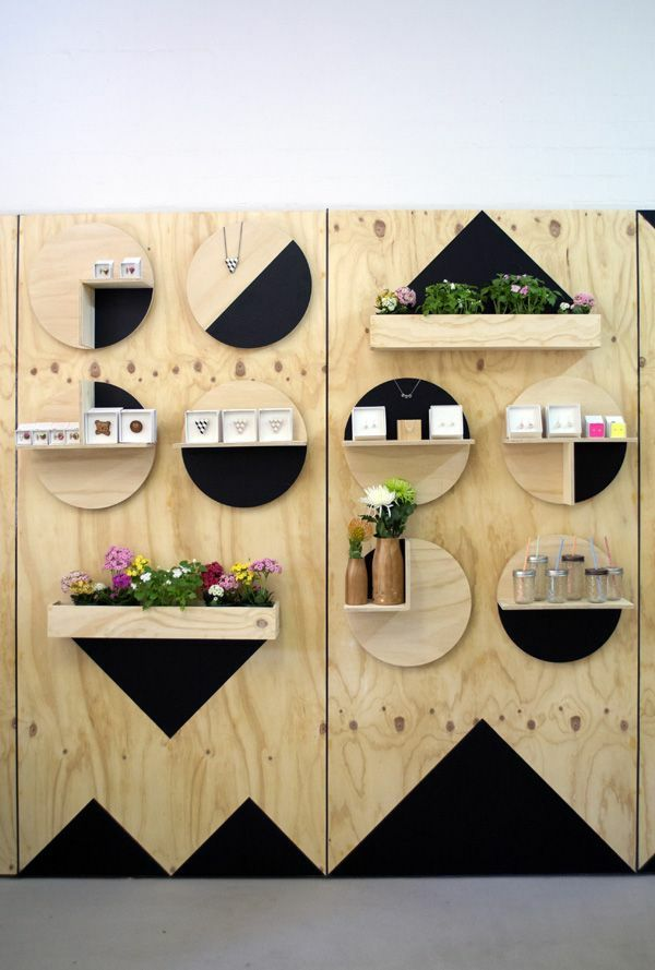 moderne holzm bel holzregal bauen minimalistisch display. Black Bedroom Furniture Sets. Home Design Ideas