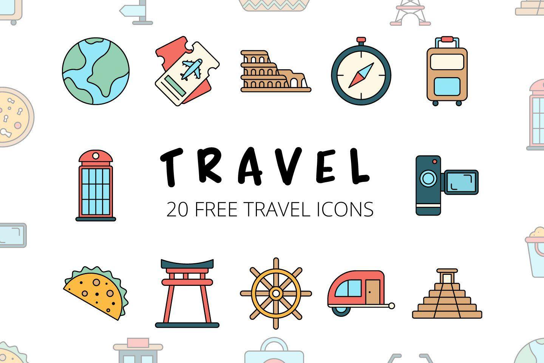 Travel Vector Free Icon Set (Dengan gambar)