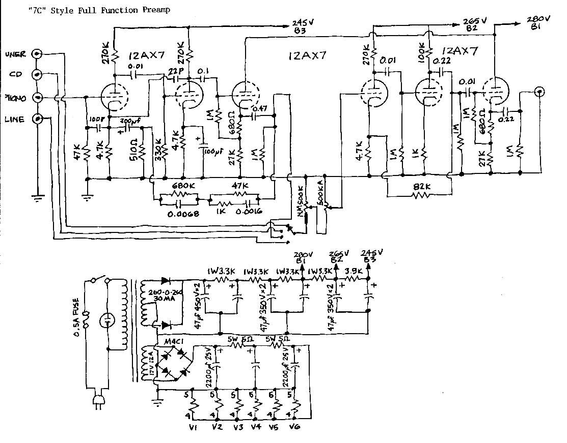 The Free Information Society - Marantz 7C Electronic Circuit ...