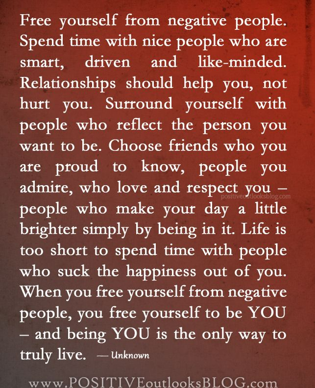 Free Yourself From Negative People Quote