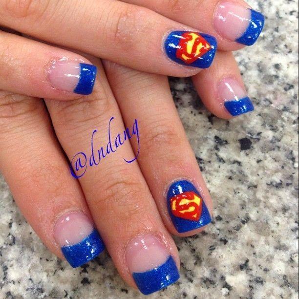Superman Nail Art Design Step By Step Entertainment News Photos