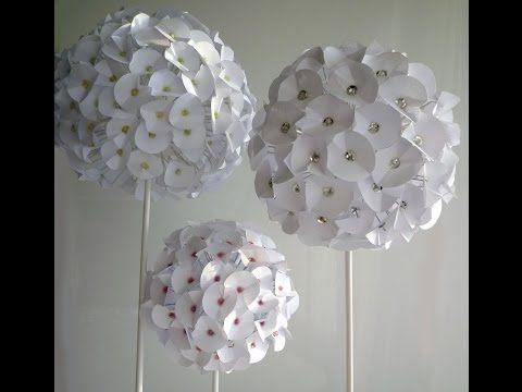 Hydrangeas Paper Flower Fleur En Papier Flor De Papel