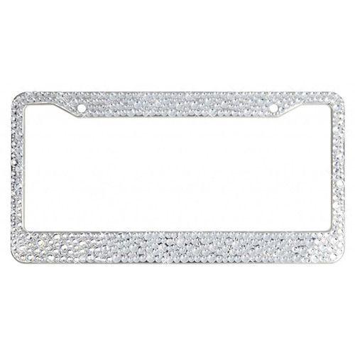 Silver Encrusted Rhinestone License Plate Frame, $34.99 http://www ...