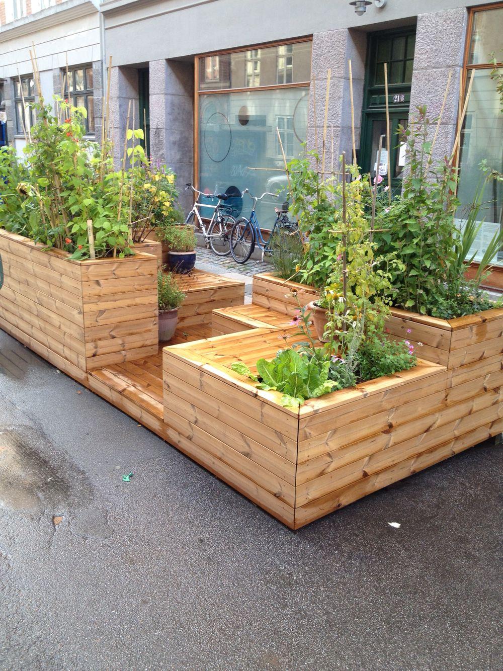 Ubrugte Bænk og plantekasser. | garden | Baghaveindretning, Byhaver og Højbede XO-64