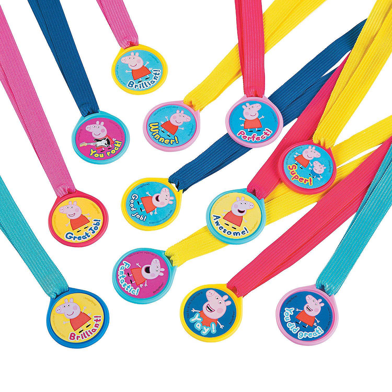 Peppa Pig 8482 Award Medals Orientaltrading Com Peppa Pig