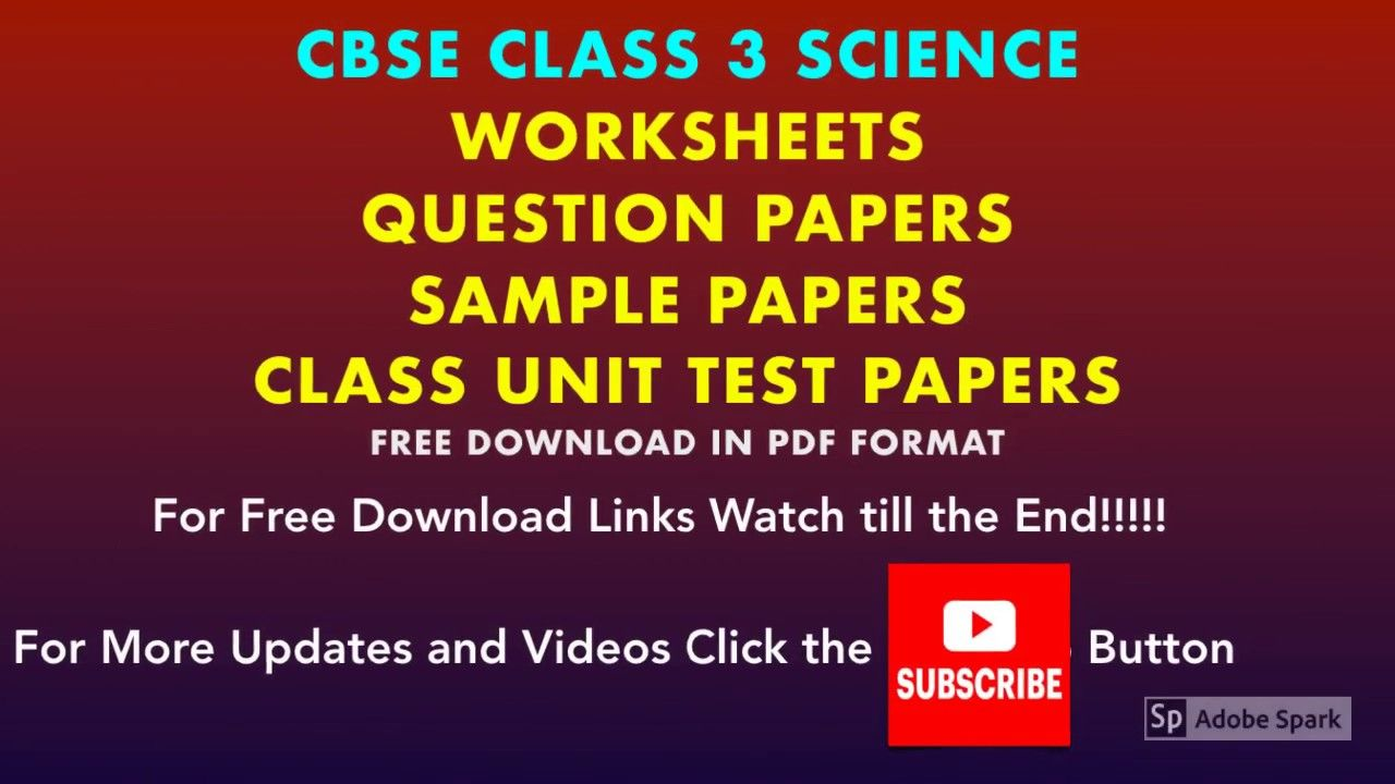Class 3 Science Worksheets   Sample Papers   Question papers   Question  paper [ 720 x 1280 Pixel ]