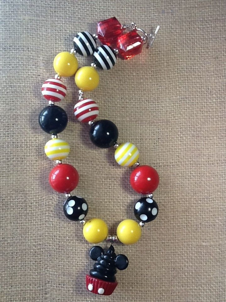 Chunky Mickey Mouse necklace.