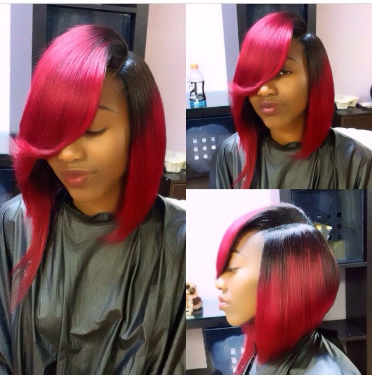 Cute Bobs With Weave And Color Coloringsite