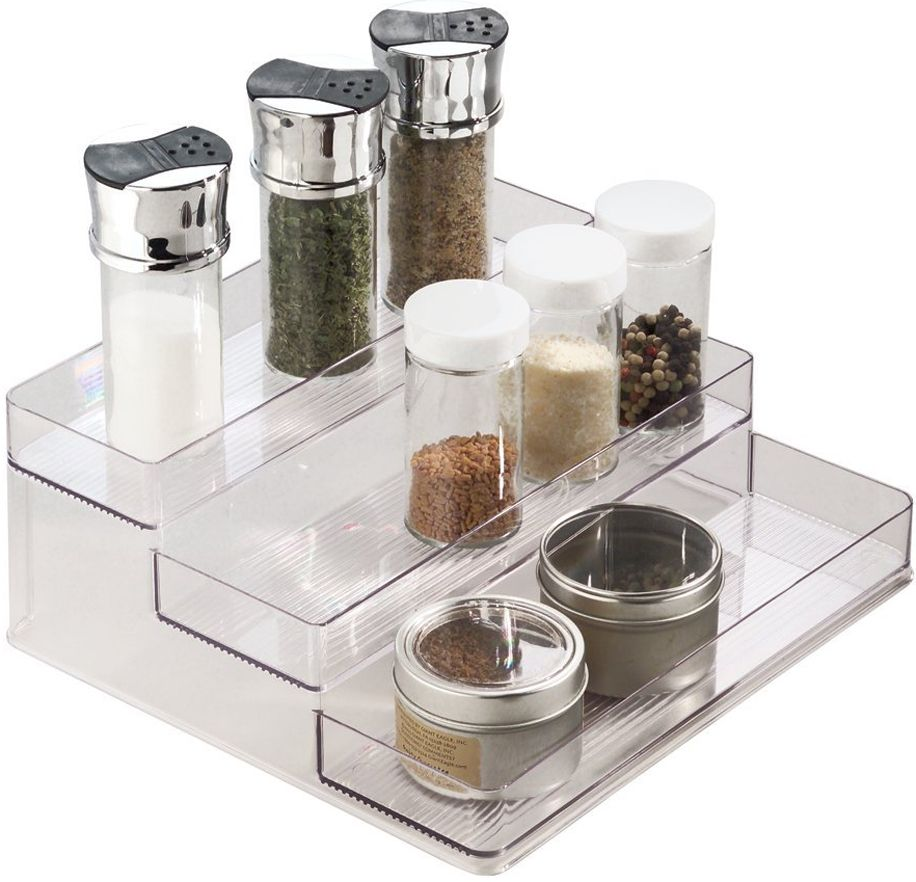 This Shelf Riser gives you a simple way to store and organize contents in your bathroom or kitchen shelf.