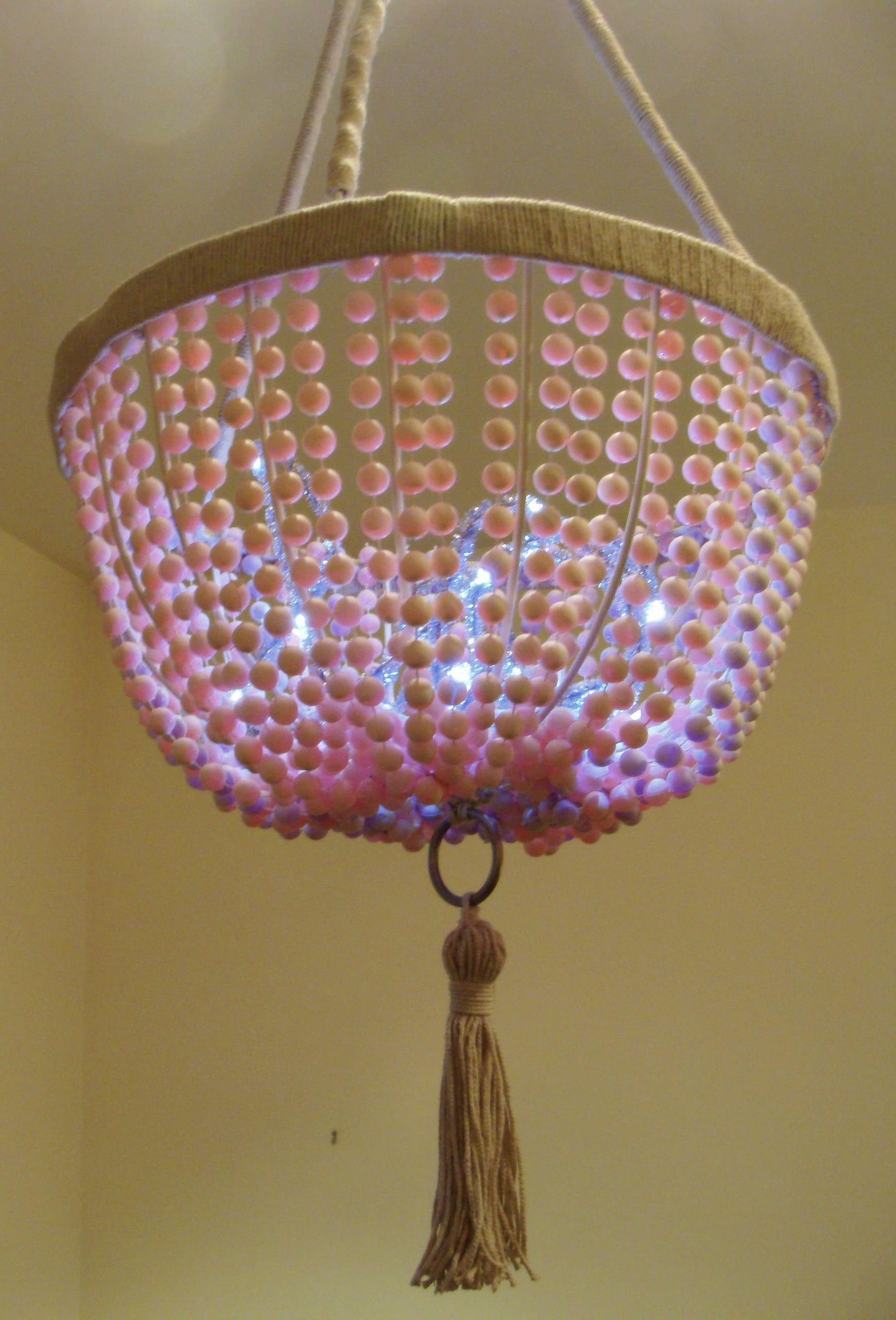 Stella Rose Chandelier Similar To The Serena And Lily Glass Bead It Goes For 895 Mine Is Made Of Dollar Strings Hanging Flower