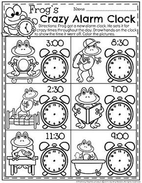 Telling Time Worksheets | First grade activities, Clock ...