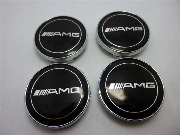 Car Tuninig 60mm Mercedes Benz Amg Wheels Center Caps 4pcs