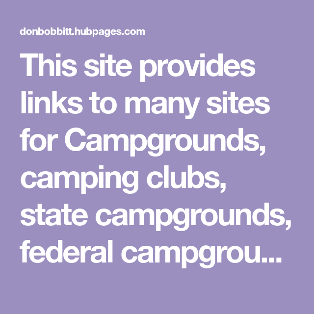 Web Links Every RV Owner Must Have Before Going on the Road
