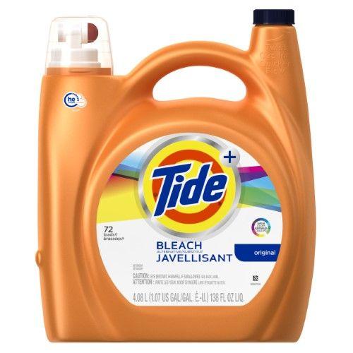 Tide Plus With Bleach Alternative Laundry Detergent Original 72