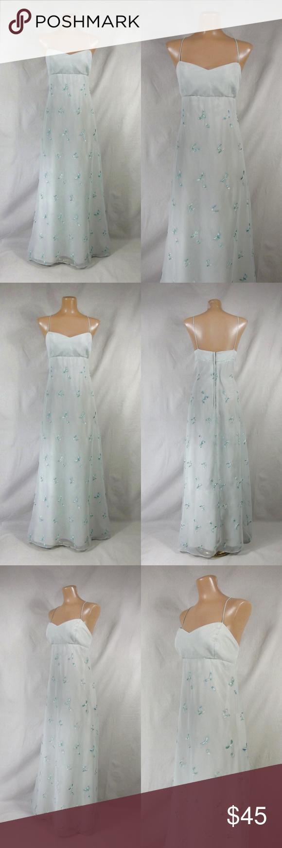 Vintage 90s Embroidered Dragonfly Formal Dress 16 Dresses Dress 16 90s Prom Dress [ 1740 x 580 Pixel ]