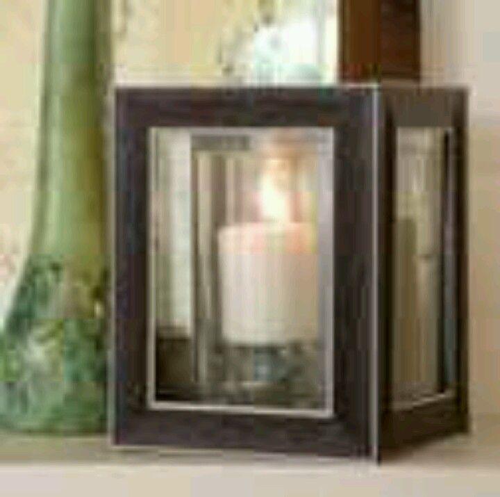 9ef36eedc404 DIY Lantern using picture frames and glue! Dollartree.com