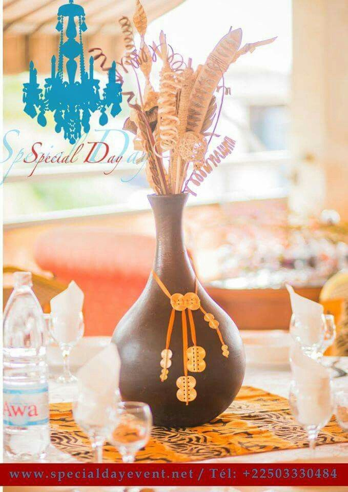 Centre De Table Mariage Africain In 2019 Deco Mariage
